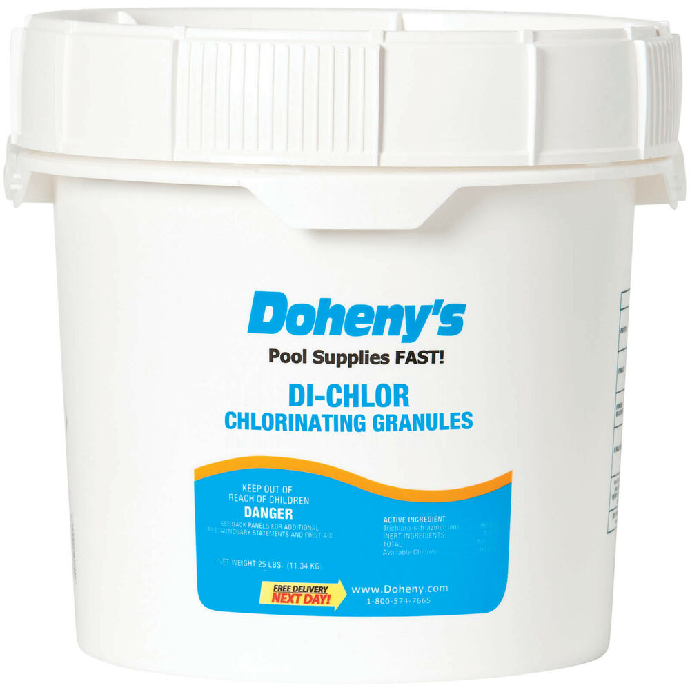 doheny 39 s swimming pool di chlor granular chlorine 50 lbs ebay. Black Bedroom Furniture Sets. Home Design Ideas
