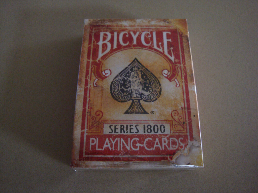 bicycle 1800 vintage series playing cards by ellusionist red