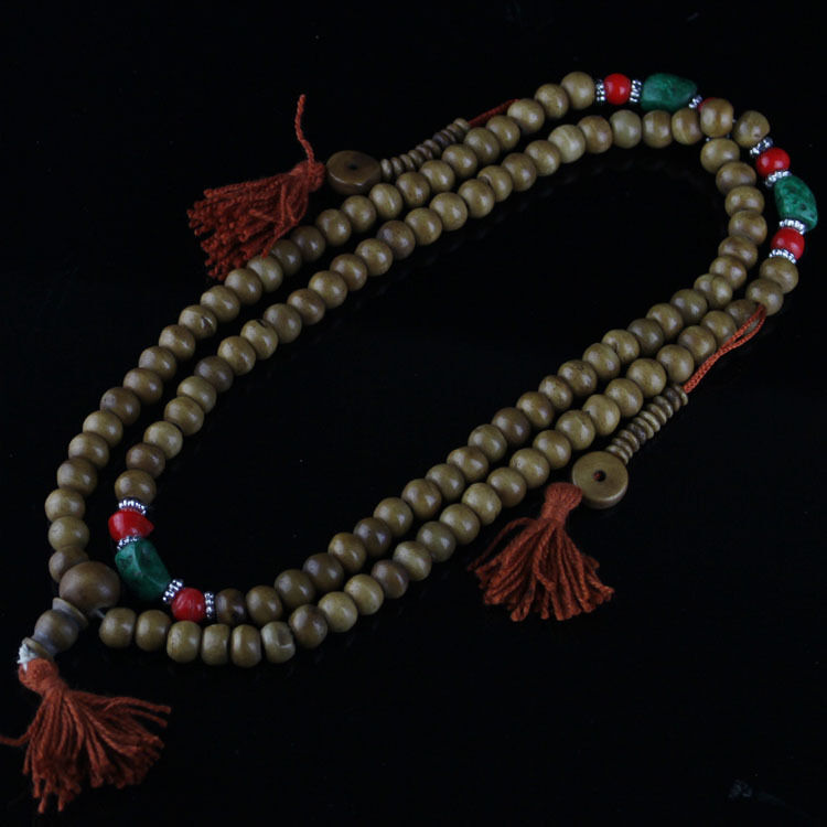 how to add a premade tassel to a mala