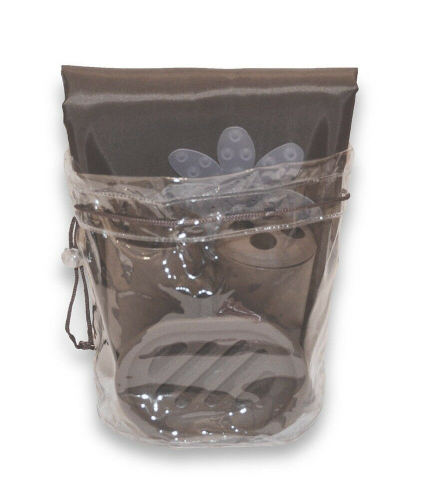 bath in a bag accessory set fabric shower curtain liner With bathroom in a bag