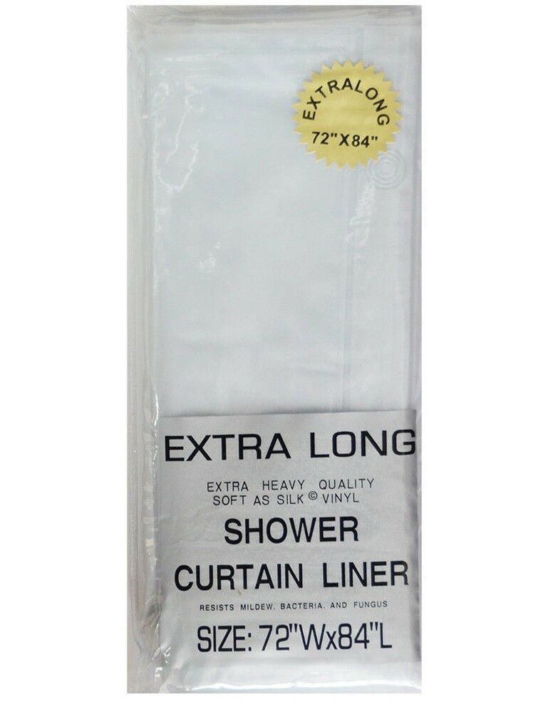"... Extra Long 5-gauge Shower Liner: 72"" x 84"" Frosted Clear 