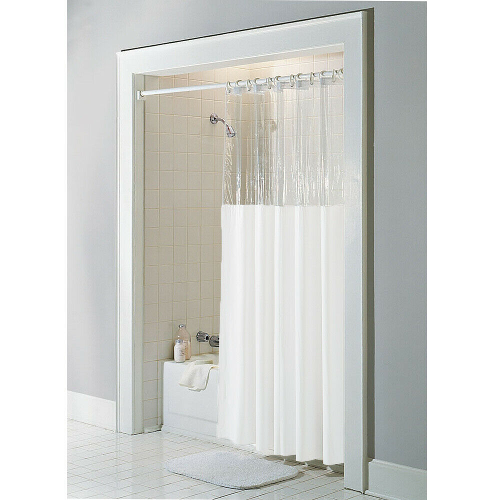 Anti Bacterial Vinyl Quot Window Quot Shower Curtain Rust Proof