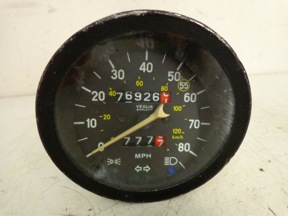 fiat 124 spider tacho speedometer ebay. Black Bedroom Furniture Sets. Home Design Ideas