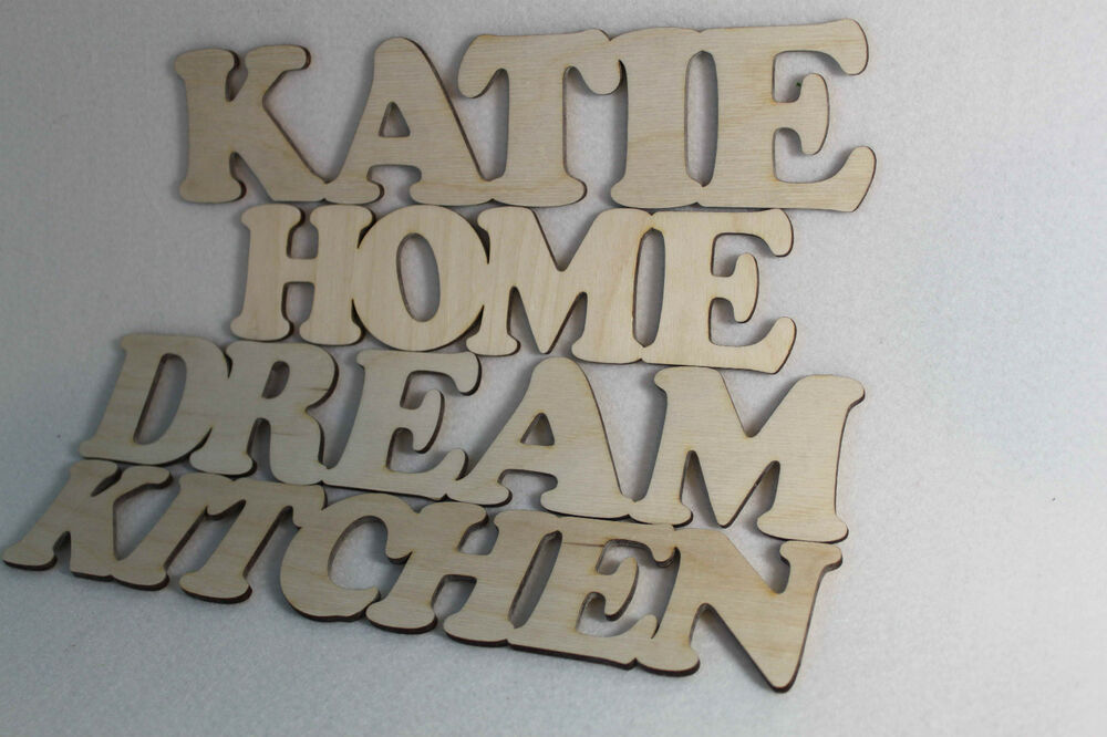 Custom wooden letters words wall decorations home kitchen for Kitchen letters decoration