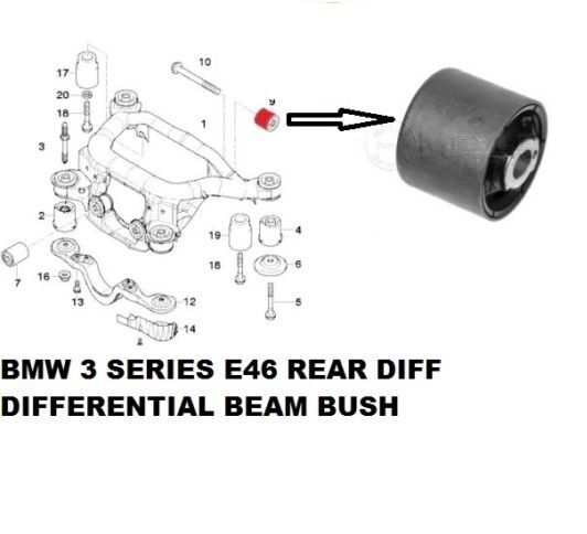 bmw 325 e46 rear diff differential beam bush bushing meyle. Black Bedroom Furniture Sets. Home Design Ideas