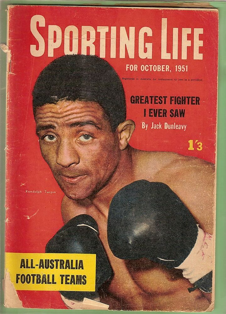 #EE. SPORTING LIFE MAGAZINE OCTOBER 1951, BOXING COVER | eBay