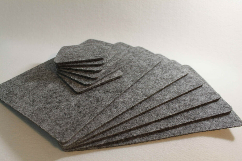 Grey Placemats Amp Coaster Simple Shape Rectangle Felt Table