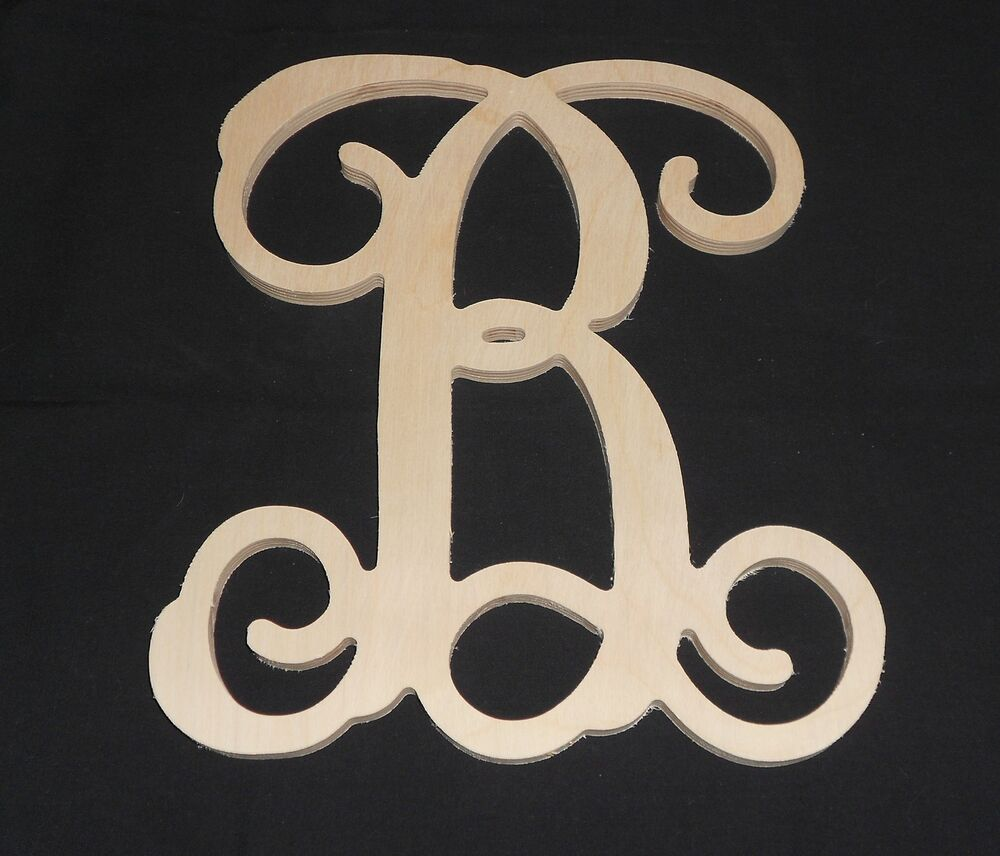 15quot wooden vine letter unfinished wood letters room decor for Ebay wooden letters