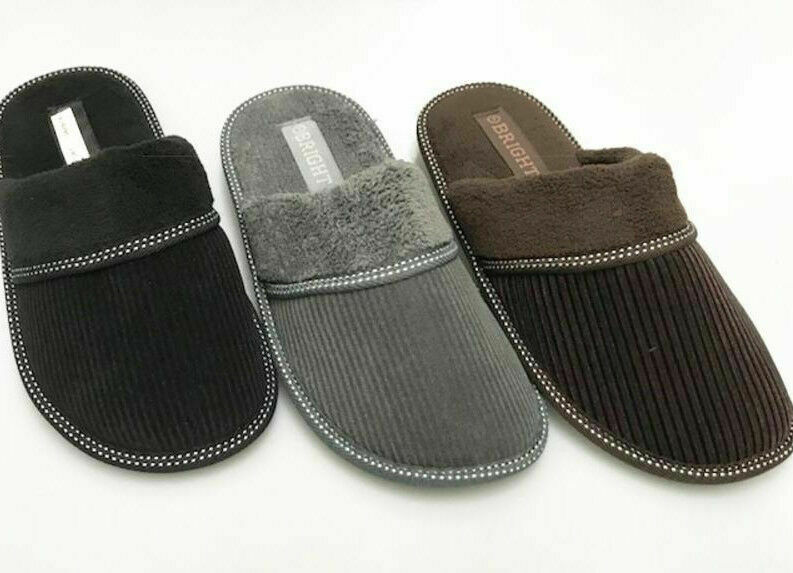 Soft Furry Fluff Warm Comfy Men Corduroy Winter Slippers Home Indoor Shoes 66628 | EBay