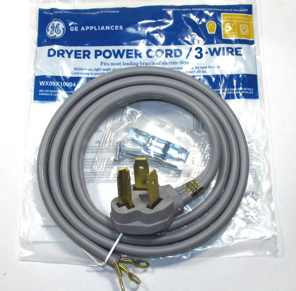 6ft 30amp 3 Wire Dryer Power Cord For Whirlpool Dryers