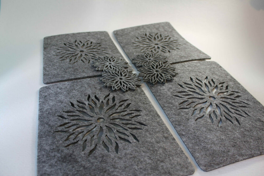 GREY Placemats and Coaster Flames Aster Flower Felt Table  : s l1000 from www.ebay.co.uk size 1000 x 666 jpeg 111kB