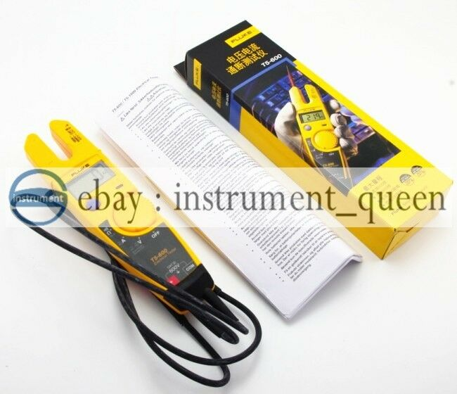 New Electrical Tester : Fluke t clamp continuity current electrical tester