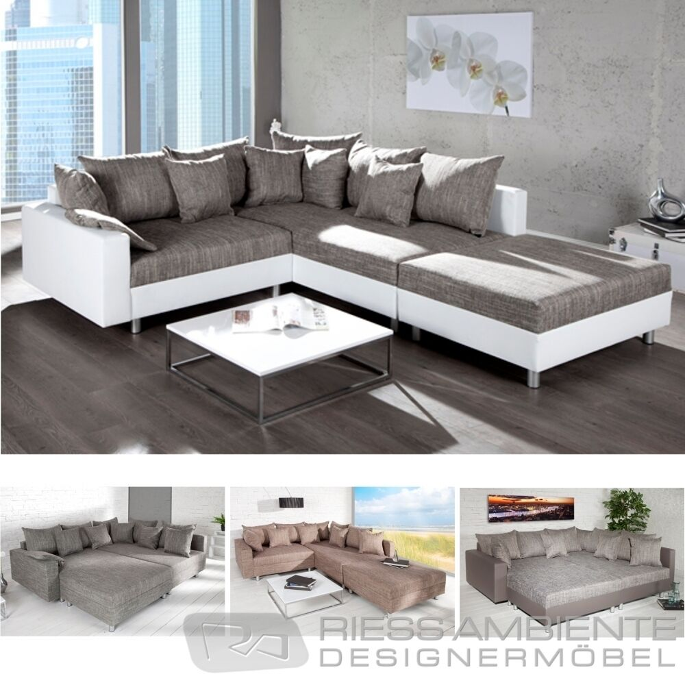 Ecksofa loft xl design sofa wohnlandschaft couch for Ecksofa couch