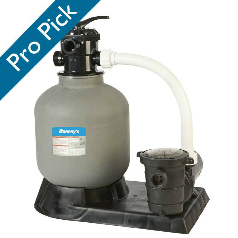 Doheny 39 s above ground 24 in sand filter system with 1 5 for Best above ground pool pump
