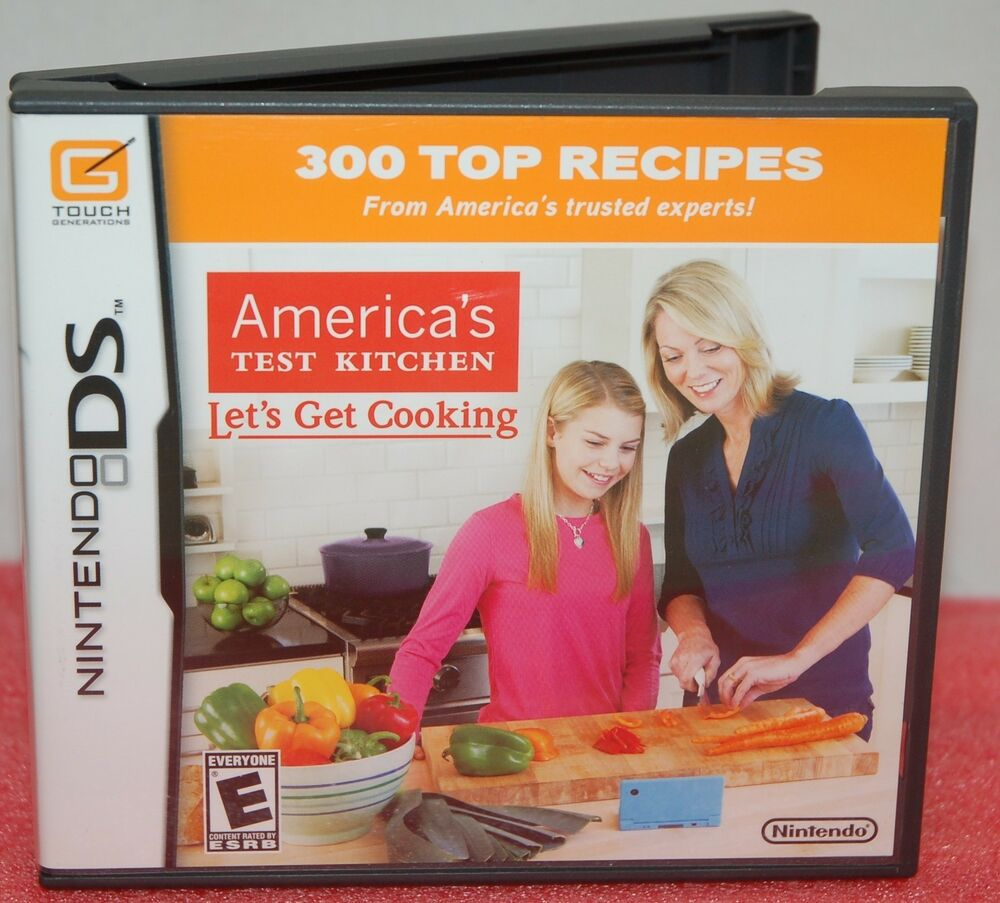 Nintendo ds dsi america 39 s test kitchen video game let 39 s for America test kitchen gift ideas