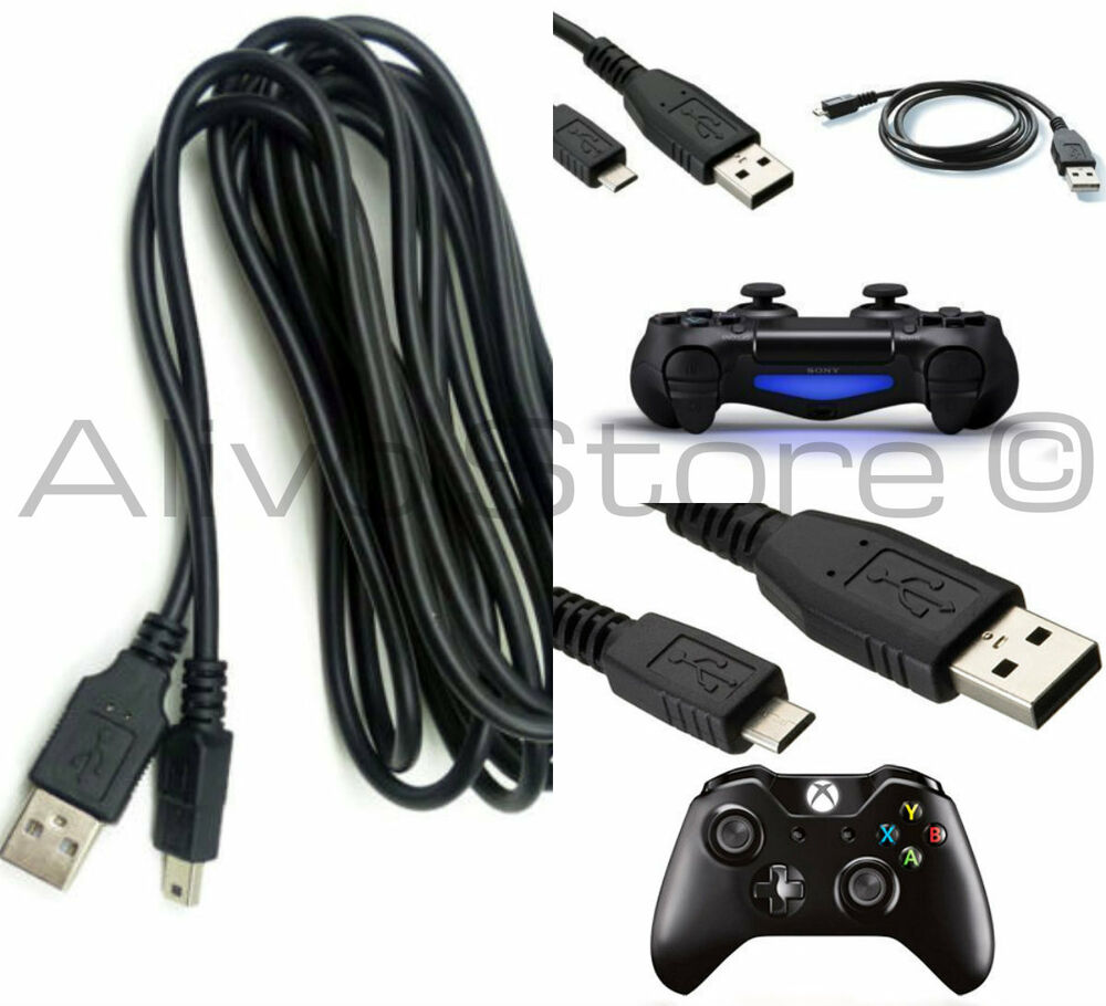 2m extra long usb charging charger play cable lead ps4 for Housse manette ps4