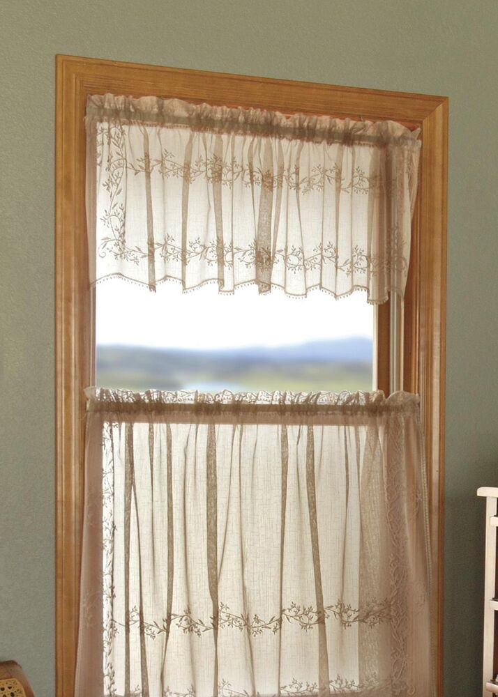 Heritage Lace Sheer Divine Panels Tiers Swags Valances