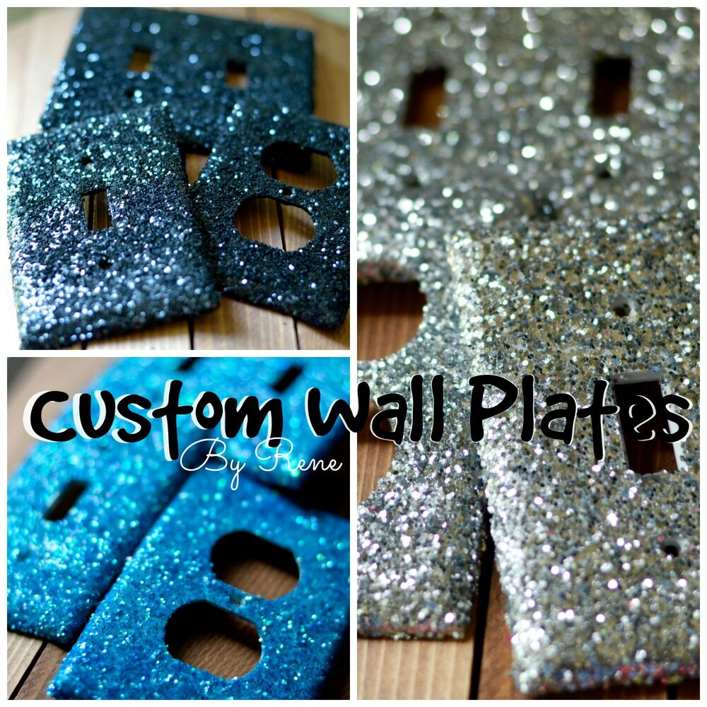 Decorative Glitter Single Double Triple Light Switch