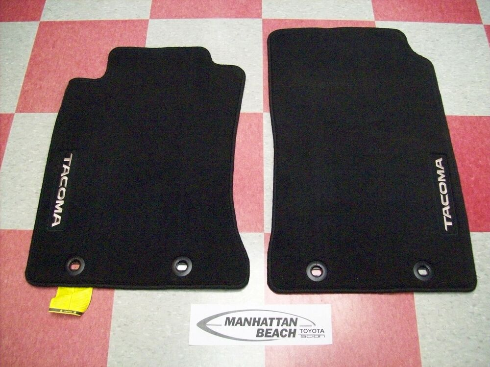 2012 2014 tacoma all cabs front carpet floor mats pt206 for Original toyota floor mats