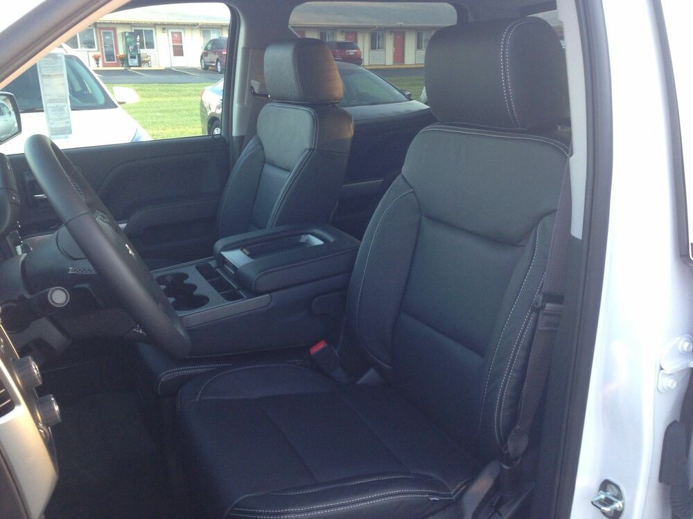2014 2015 gmc sierra sle crew cab black katzkin leather - 2015 gmc sierra interior accessories ...