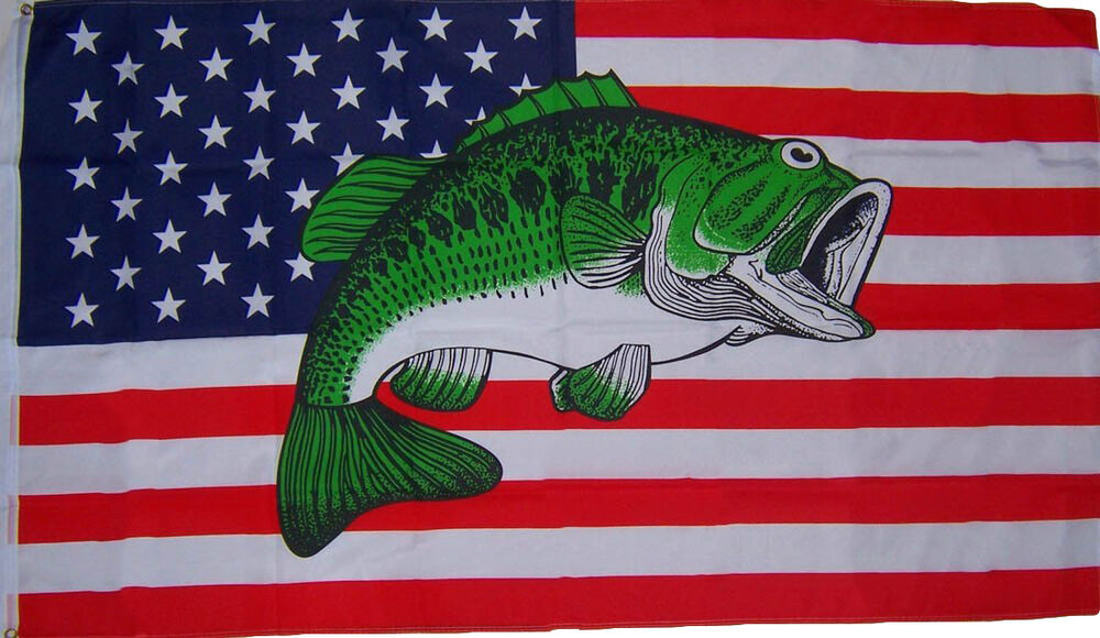 3x5 usa united states bass fish fishermans flag 3 39 x5 for American flag fish
