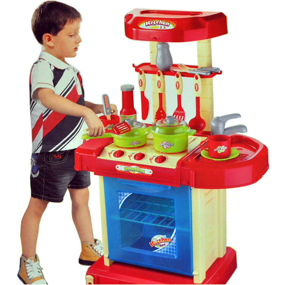 Model Toys For Boys : Portable electronic children kids kitchen cooking boy toy
