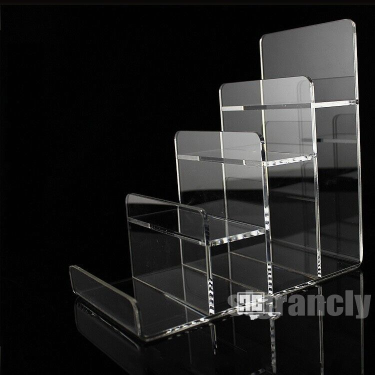 Clear 4 Layer Acrylic CD DVD Wallet Retail Display Rack ...