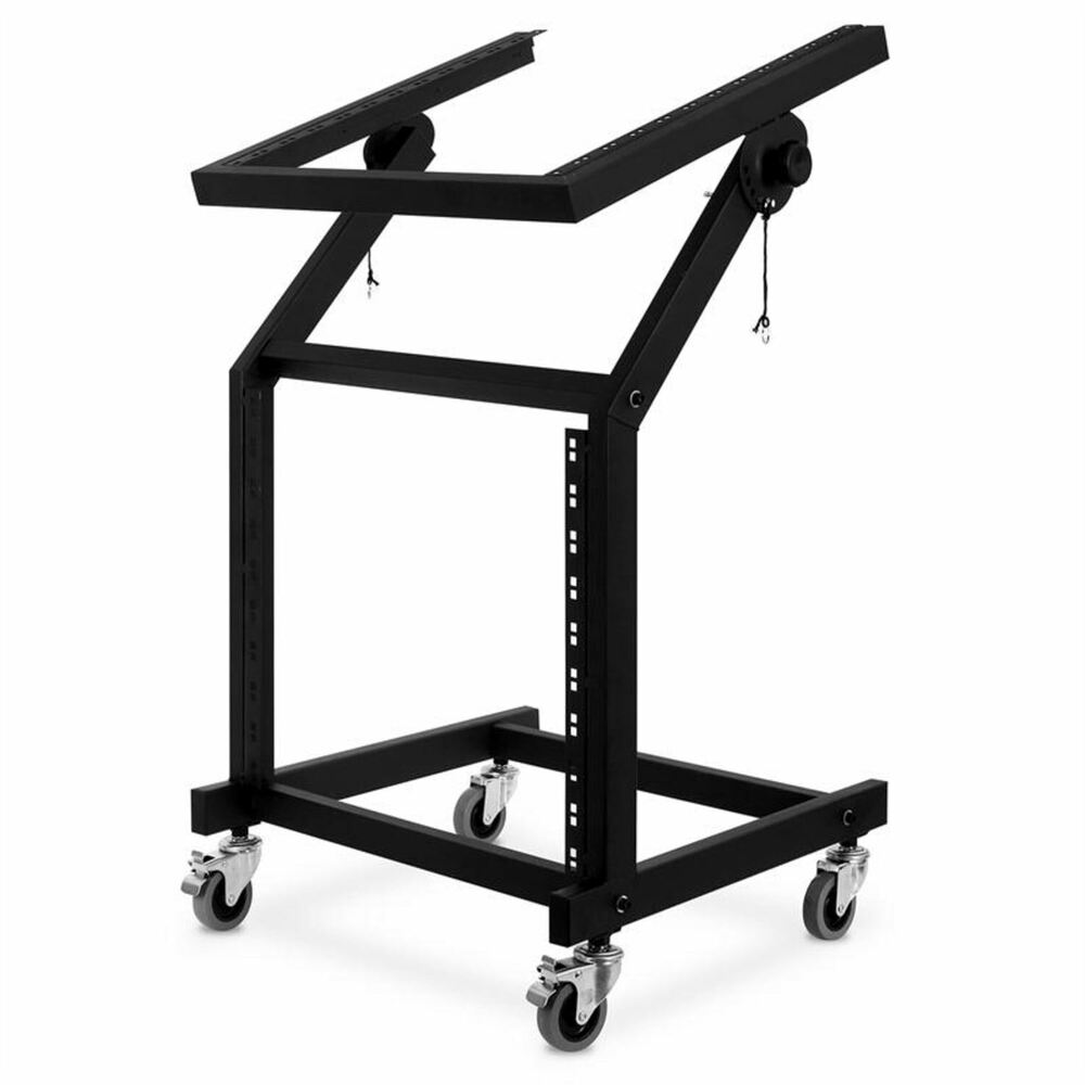 mobiler dj pa studio equipment 19 rack stand 21he rollwagen b hnen rackwagen ebay. Black Bedroom Furniture Sets. Home Design Ideas