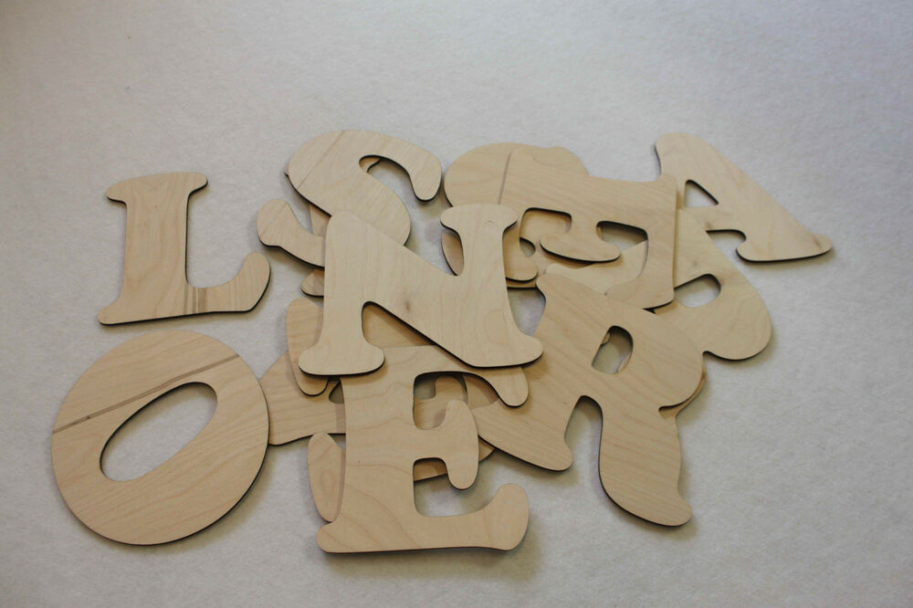 Custom wooden letters names words wall decorations your for Ebay wooden letters