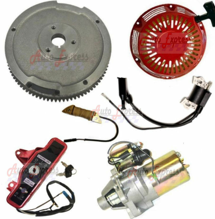 Electric Starter Motor Kit Gx160 Recoil Ignition Coil