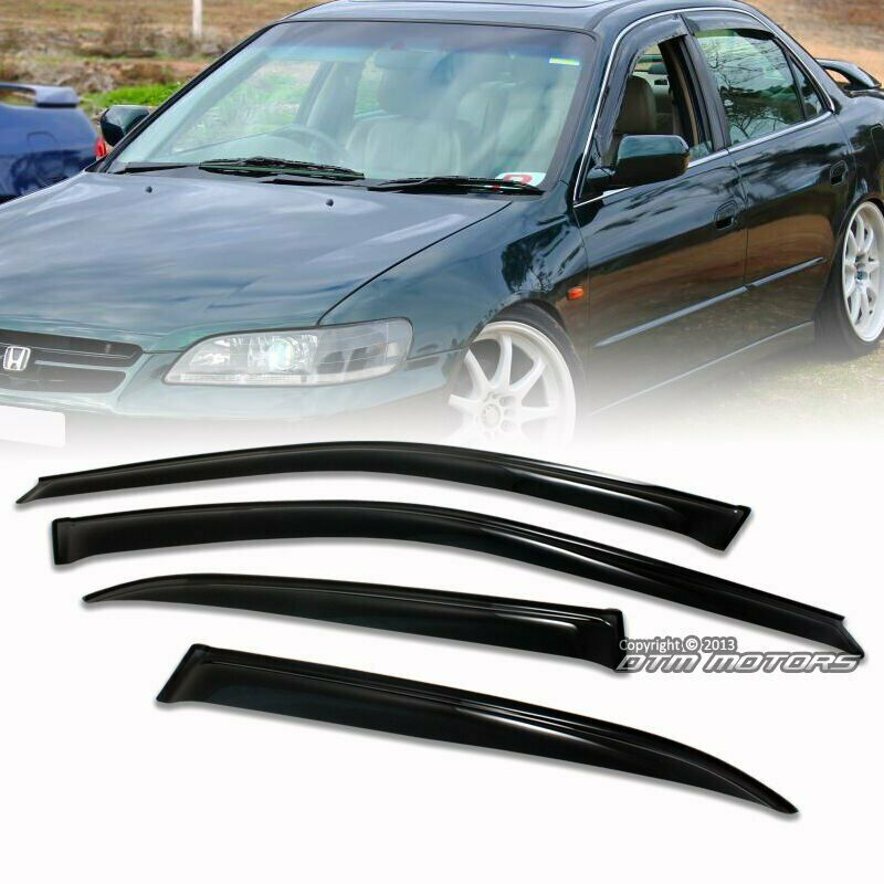 Side door window visor shield guard sun shade for 1998 for 2000 honda accord driver side window
