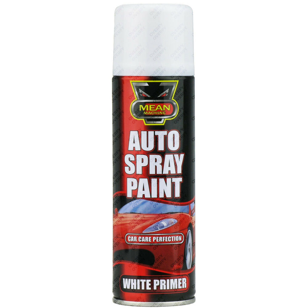 8 x white primer aerosol spray cans 250ml cars vans auto spray paint ebay Paint with spray can