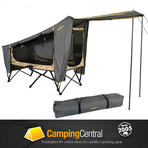 Oztrail Easy Fold Stretcher Tent Camp Cot Swag Mozzie Dome