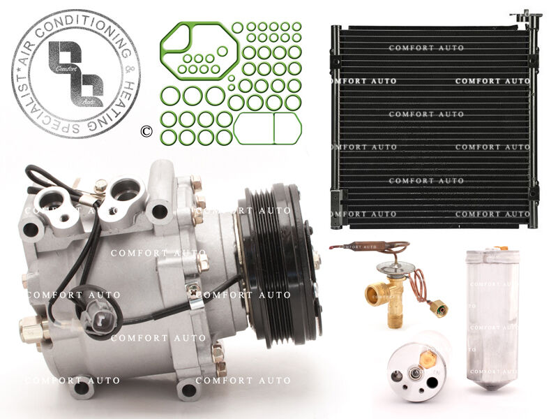 ac a c compressor and condenser kit fits 1996 2000. Black Bedroom Furniture Sets. Home Design Ideas