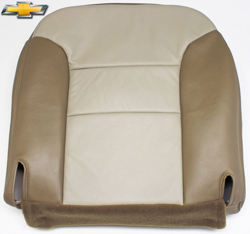 1999 Chevy Tahoe Z71 4x4 *Driver Side Bottom Leather Seat Cover 2-Tone ...