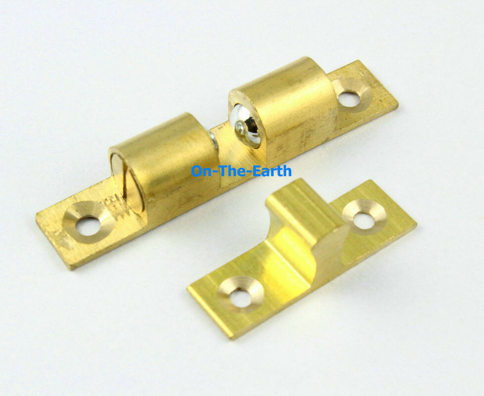 Cabinet roller catch door solid brass ebay