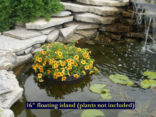 16 floating island pond planter water garden koi self for Koi pool water gardens cleveleys