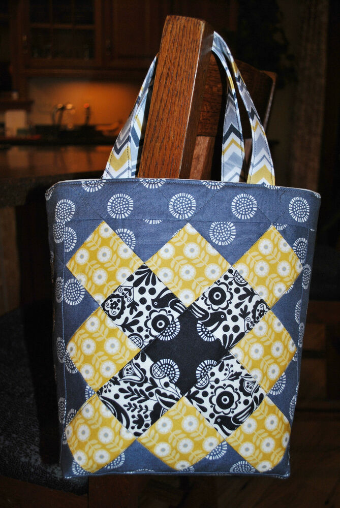 Patchwork Tote Bag PATTERN, Quilting, Sewing, Scrap pattern, Mini ...