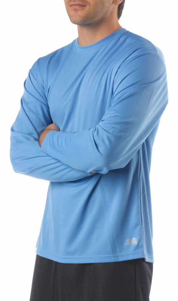 A4 Men 39 S Moisture Wicking Textured Tech Long Sleeve
