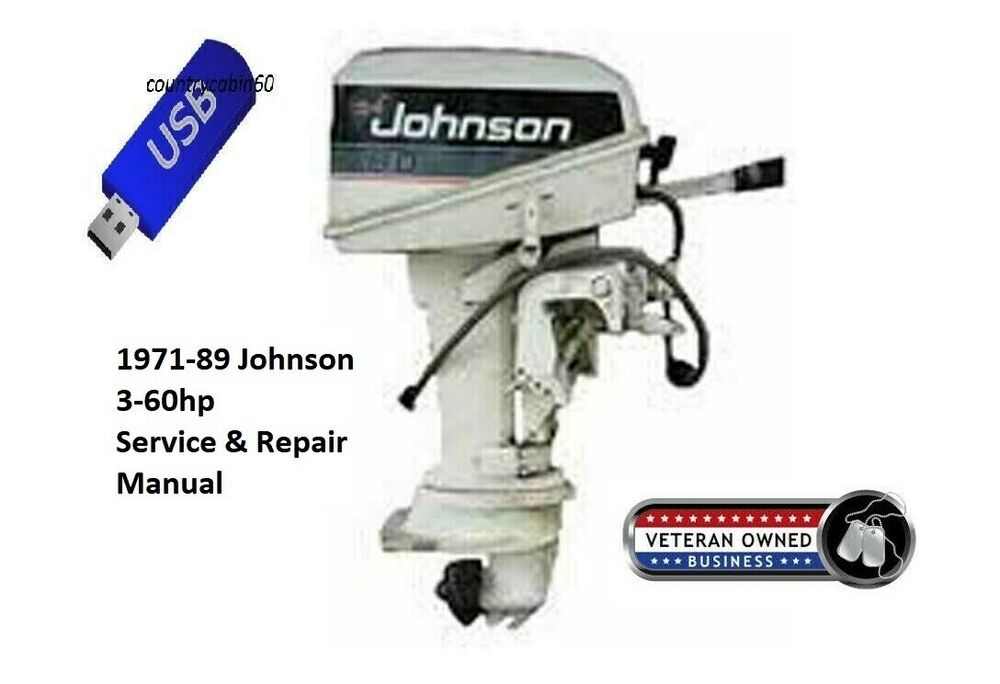 Johnson 3 60hp outboard oem service repair manual on cd for Boat motor repair shops