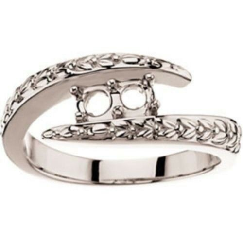 custom made two mothers ring in 14kt white gold