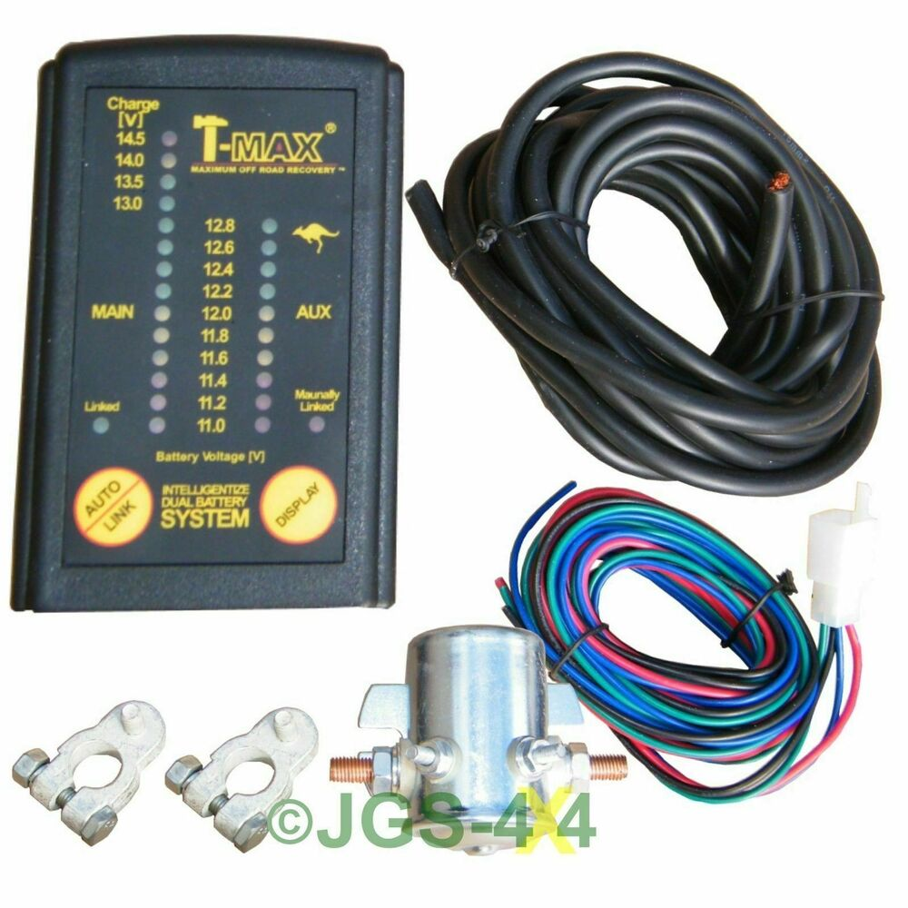 Battery And Charging System Monitor : T max v split charge dual battery charging system relay