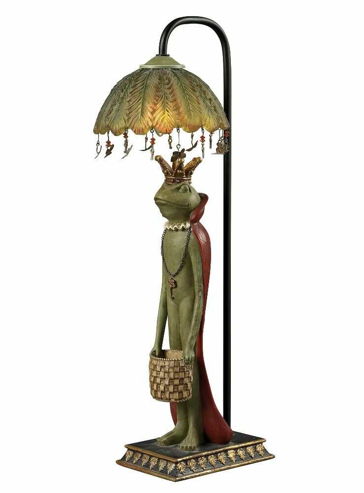 King Frog Accent Lamp Crown Amp Red Cape Fairy Tale Table