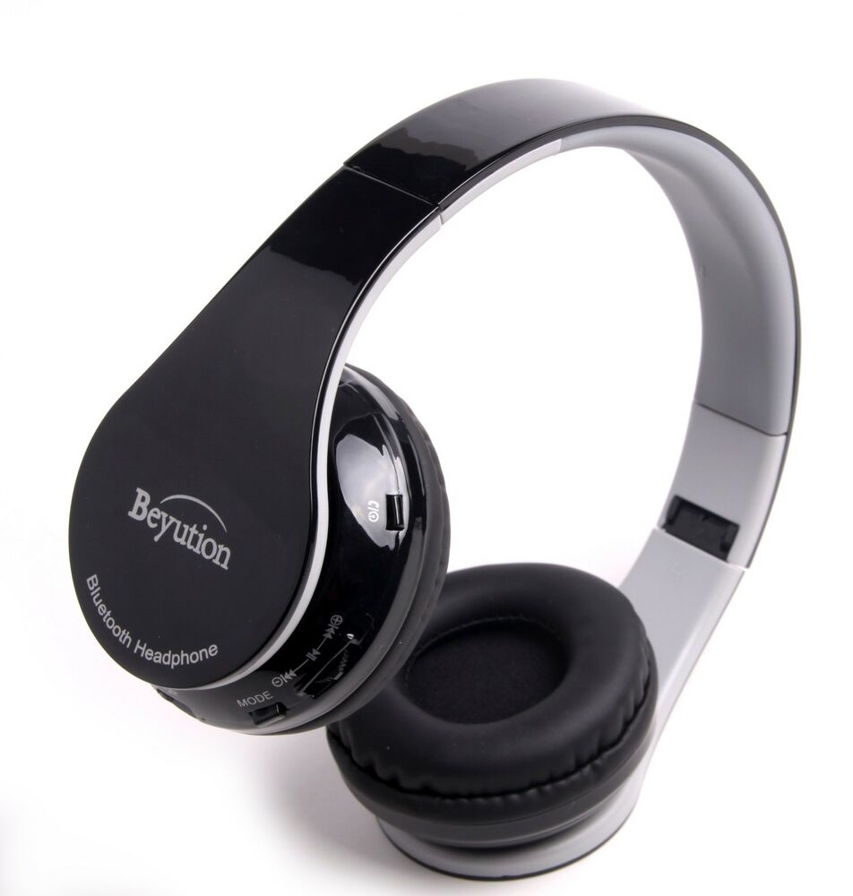 best gift hifi stereo wireless bluetooth headphones for all cell phones with mic ebay. Black Bedroom Furniture Sets. Home Design Ideas