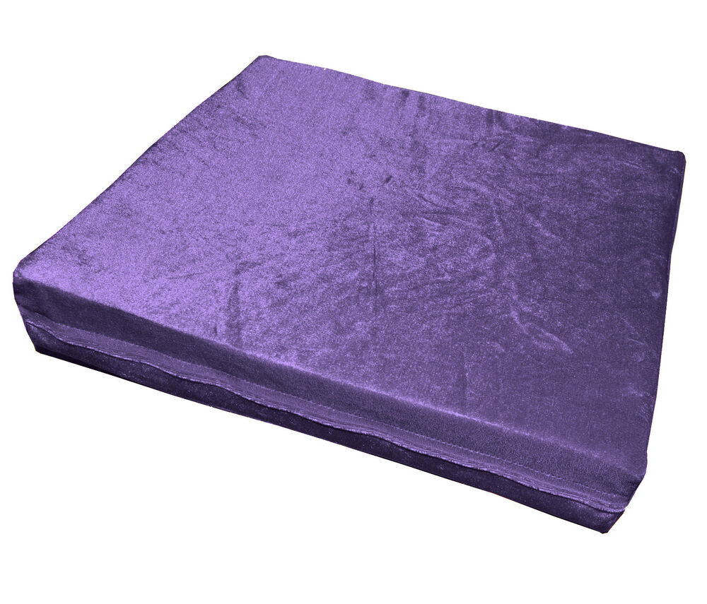 Mo90t Lilac Shimmer Velvet Style 3d Box Thick Sofa Seat