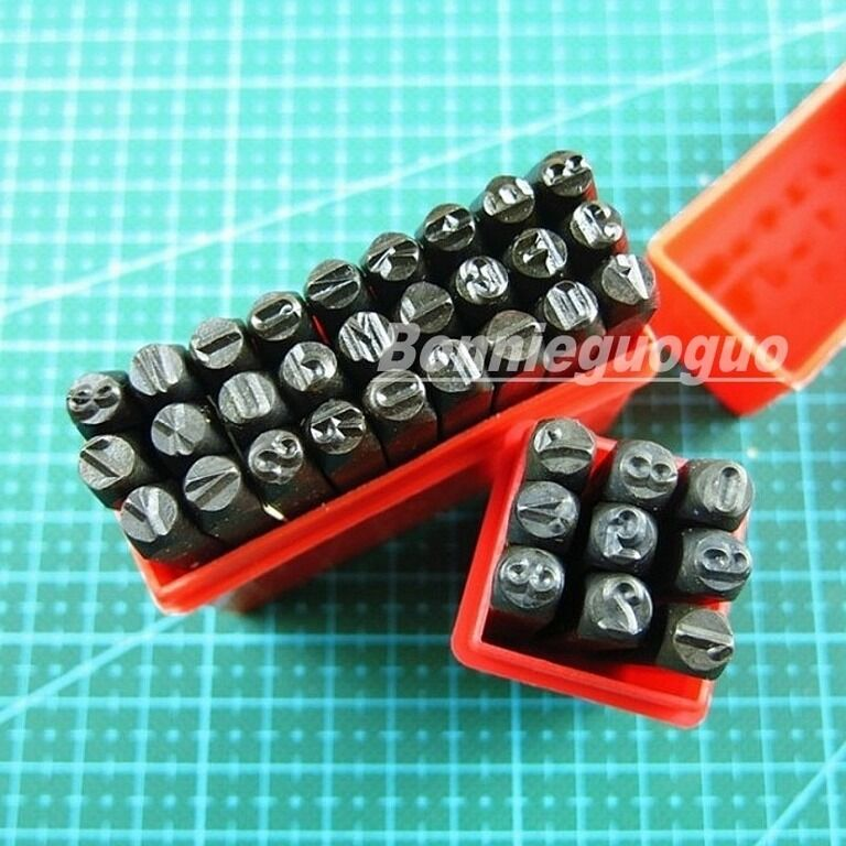 36 Pc 4mm 5 32 Quot Letter Amp Number Steel Stamp Die Punch