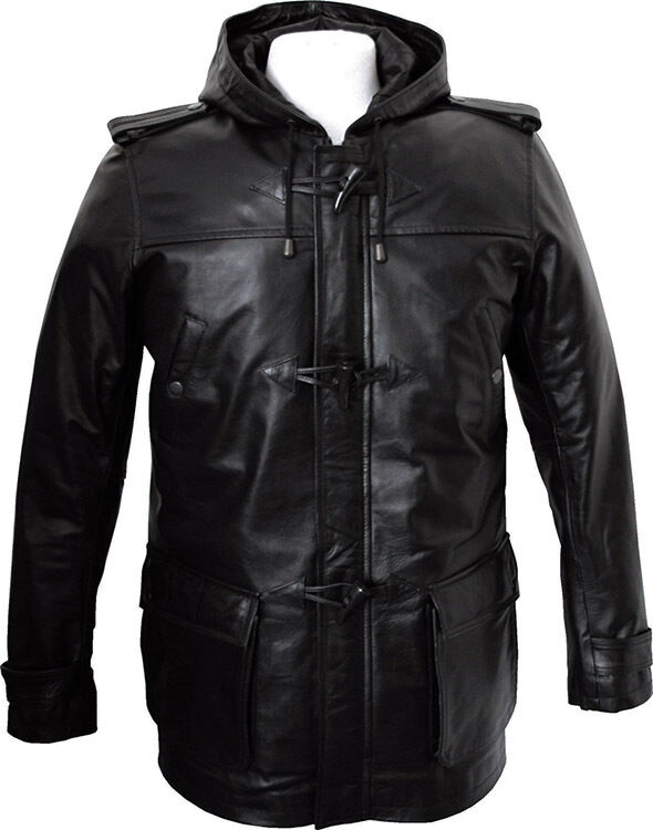 3 4 length leather jacket