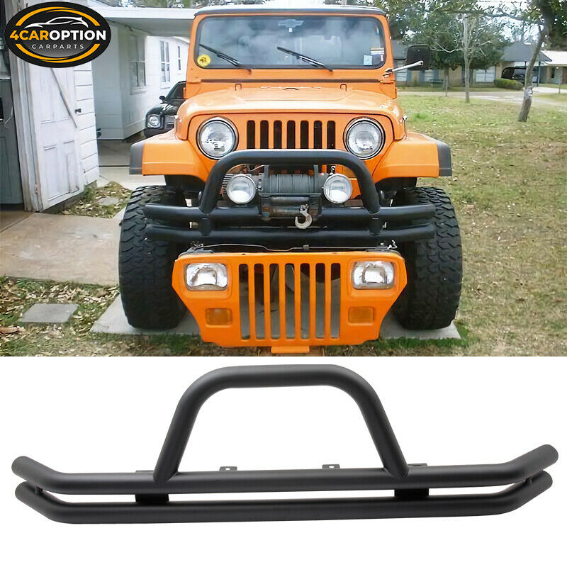 Jeep Grill Guards And Bumpers : Jeep wrangler front grille guard black powder coated