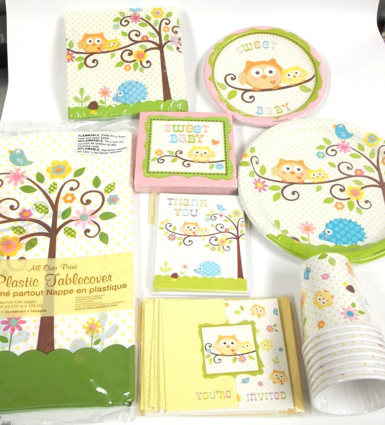 Owl Baby Shower Supplies: Happi Happy Tree Owl Baby Shower Large Set Party Supplies