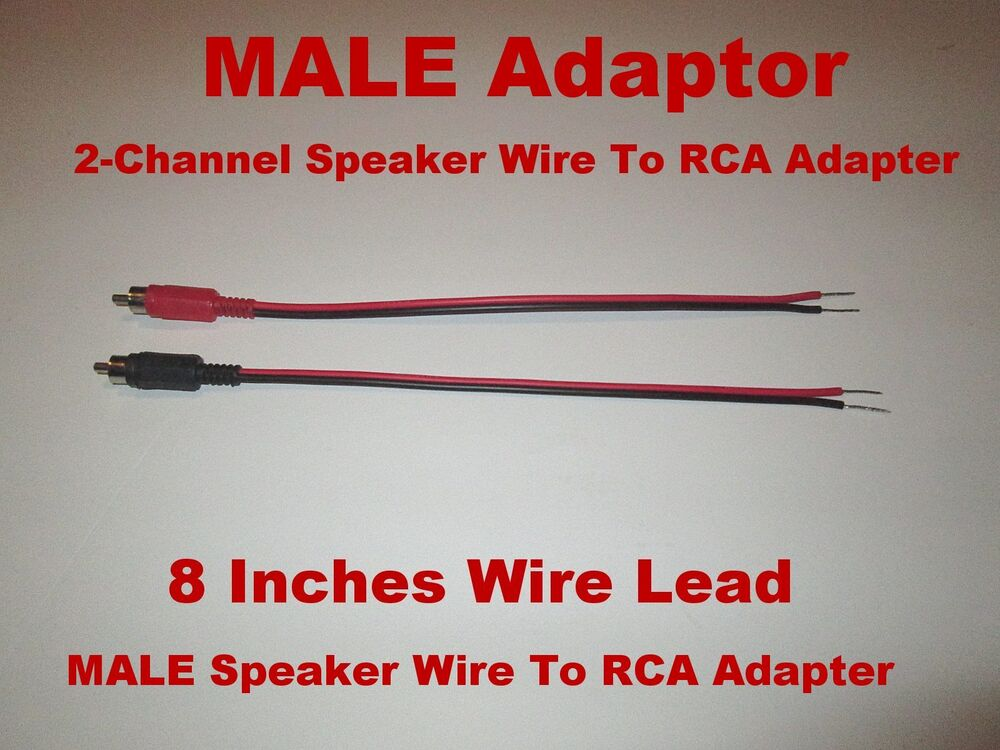 2 Channel Speaker Wire To Rca Adapter Car Amp Receiver